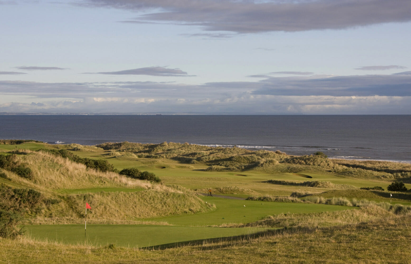 Overlooking the 18th, 6th & 17th at Kingsbarns Golf Links, Scotland, United Kingdom