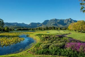 View of Fancourt Resort, The Garden Route, South Africa