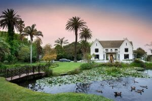 Entrance to Manor House at Fancourt Resort, The Garden Route, South Africa
