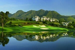 Looking at the Outeniqua Course at Fancourt Resort, The Garden Route, South Africa