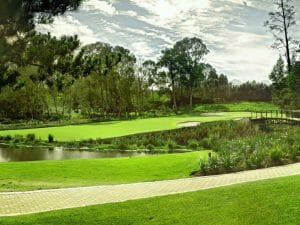 Cart Path and Montagu Golf course at Fancourt Resort, The Garden Route, South Africa