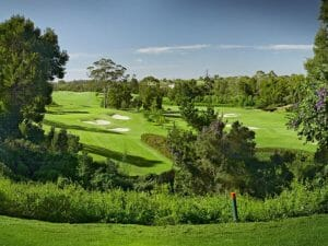 View from Tee Box at Montagu Course in Fancourt Resort, The Garden Route, South Africa