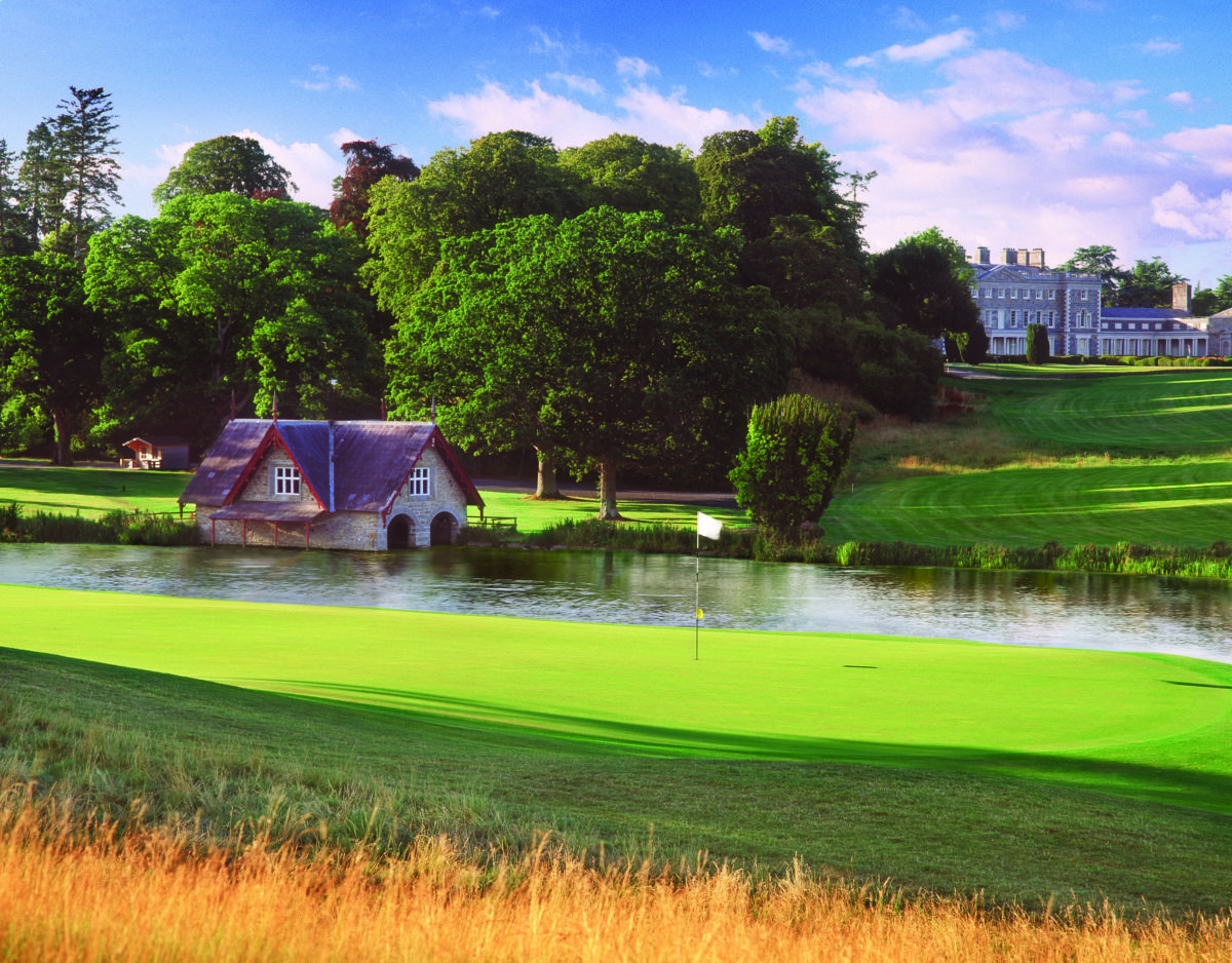 Overlooking the 18th green on the Championship Montgomerie Course, Carton House, Ireland