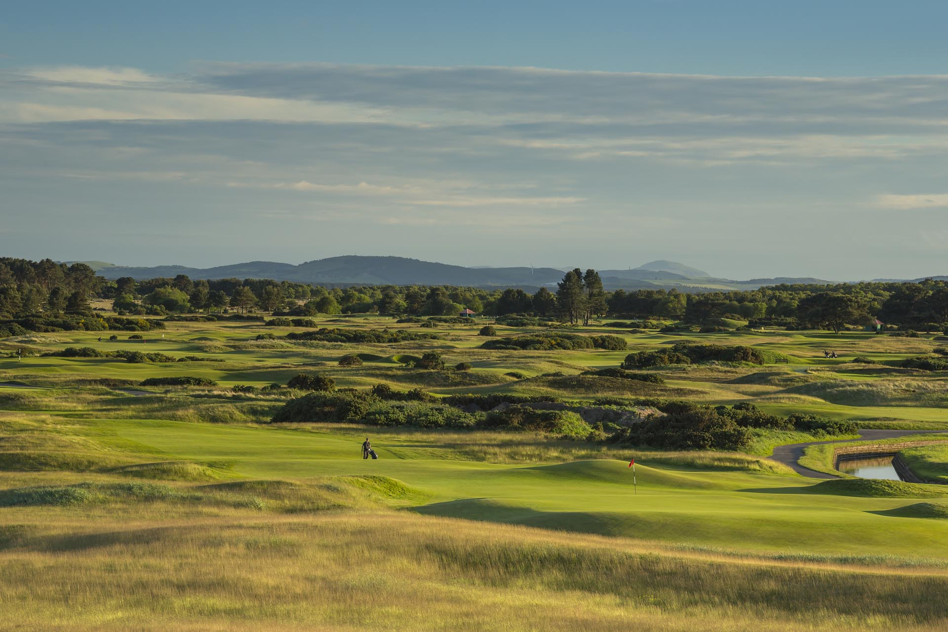 Overlooking the Buddon Links Course, Carnoustie Golf Links, Scotland, United Kingdom