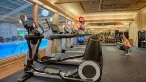 Image showing the inside of the fitness centre, Salishan Resort, Oregon, USA