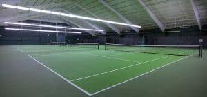 Image depicting the indoor tennis courts at Salishan Resort, Oregon, USA