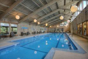 Image of the full length indoor pool at Salishan Resort, Oregon, USA
