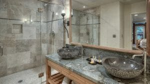 Image of the inside of a suite bathroom at Salishan Resort, Oregon, USA