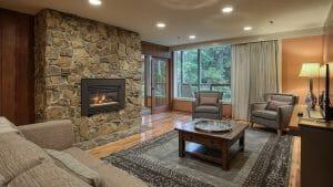 Image displaying the lounge room of a Suite, Salishan Resort, Oregon, USA