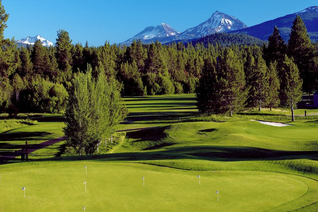 Image of the practice facilities at Black Butte Ranch, Oregon, USA