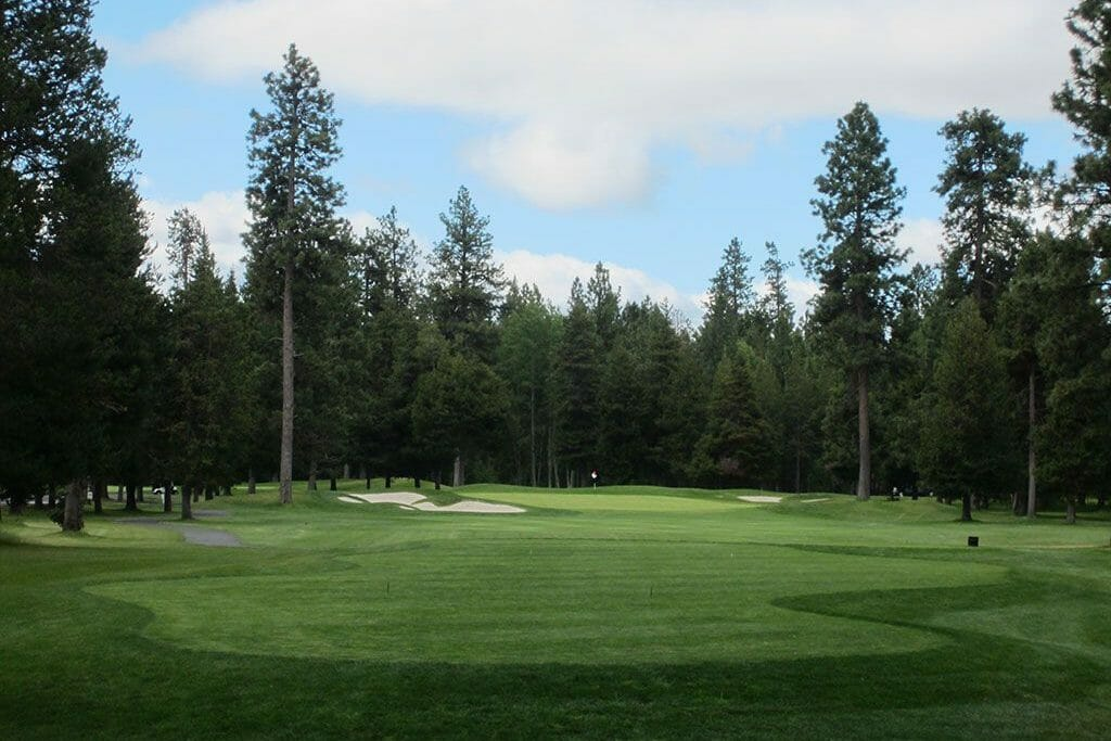 Image of the 8th fairway on the Big Meadow Golf Course, Black Butte Ranch, Oregon, USA