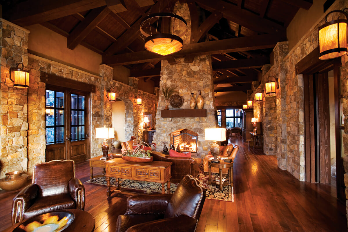 Image of the Pronhorn Clubhouse entry sitting area, Pronghorn Golf Resort, Bend, Oregon, USA