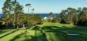 Image of a downhill hole at Spyglass Hill Golf Course USA
