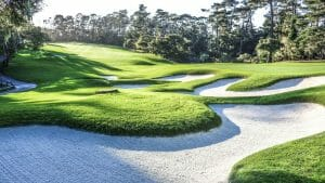 Image of the 12th hole at spyglass Hill Golf Course at Pebble Beach