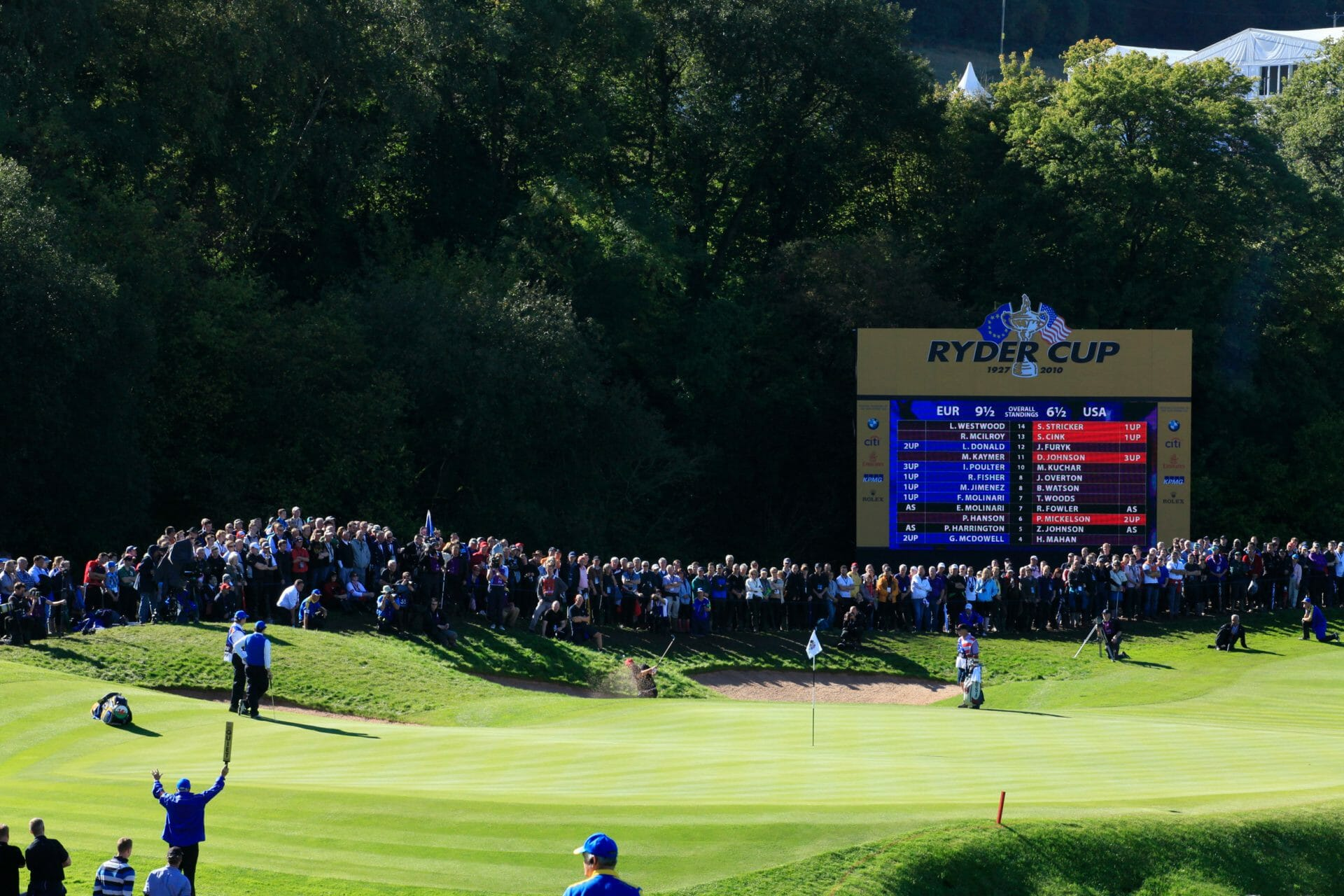 View of the 2010 Ryder Cup at The Celtic Manor Resort, Usk Valley, Wales, United Kingdom