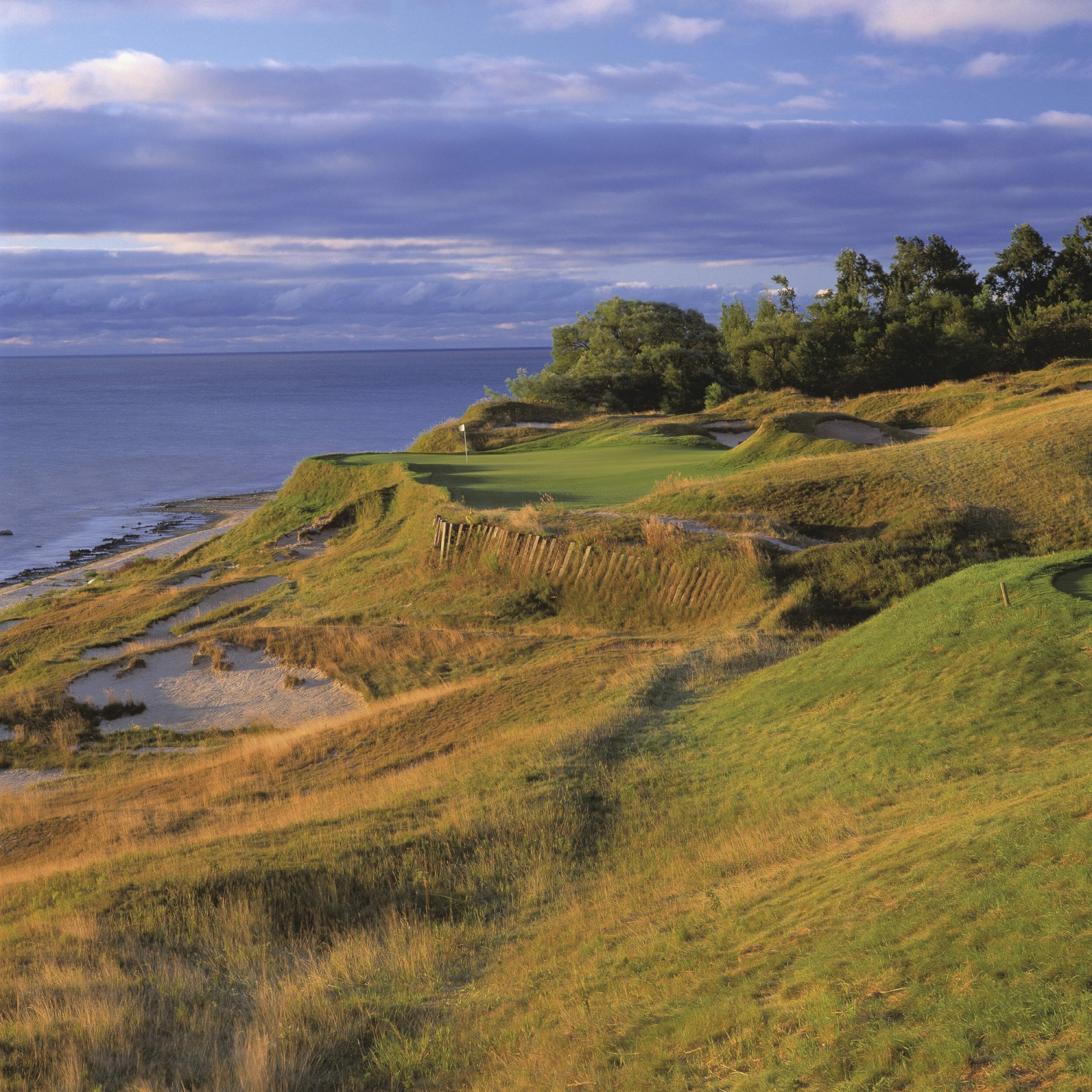 Image depicting the 17th tee on The Straits Golf Course at Destination Kohler, Wisconsin, USA