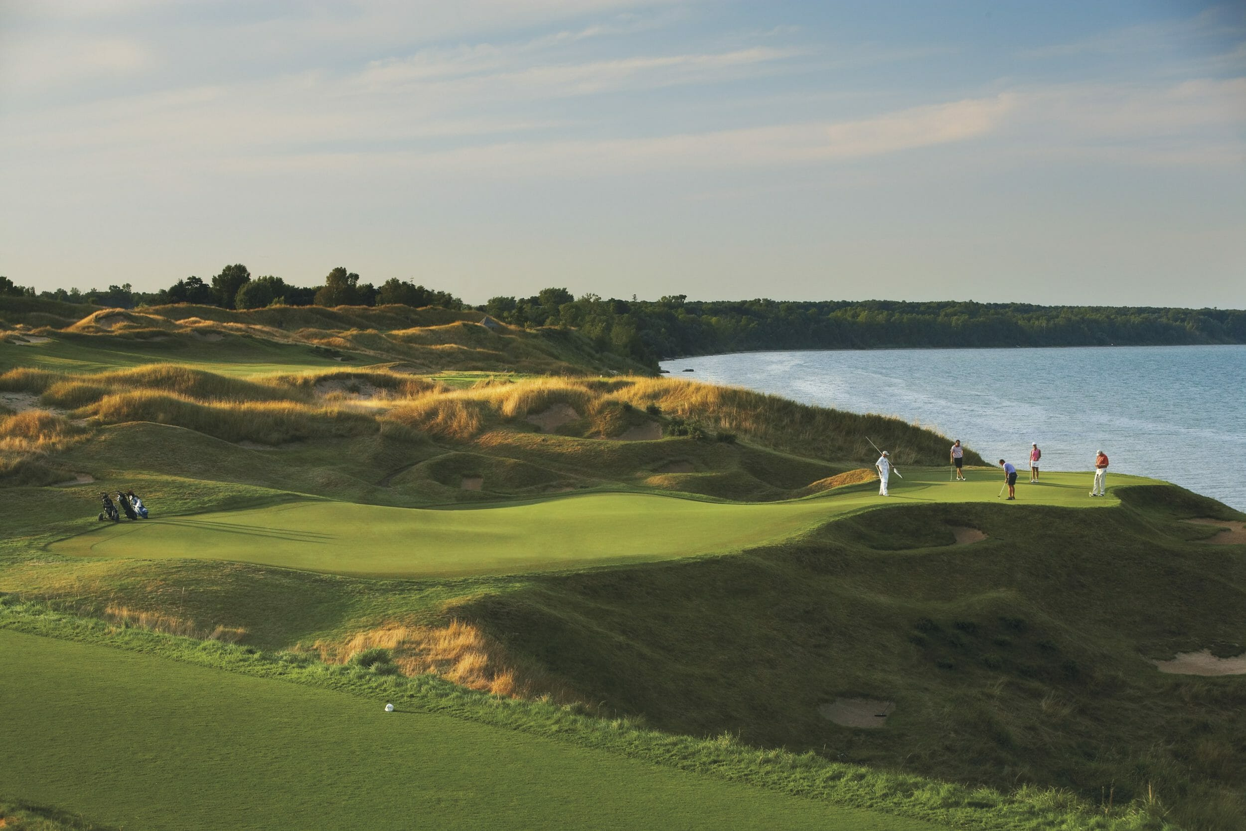 Image of the Straits 12th tee by the sea, Destination Kohler, Wisconsin, USA
