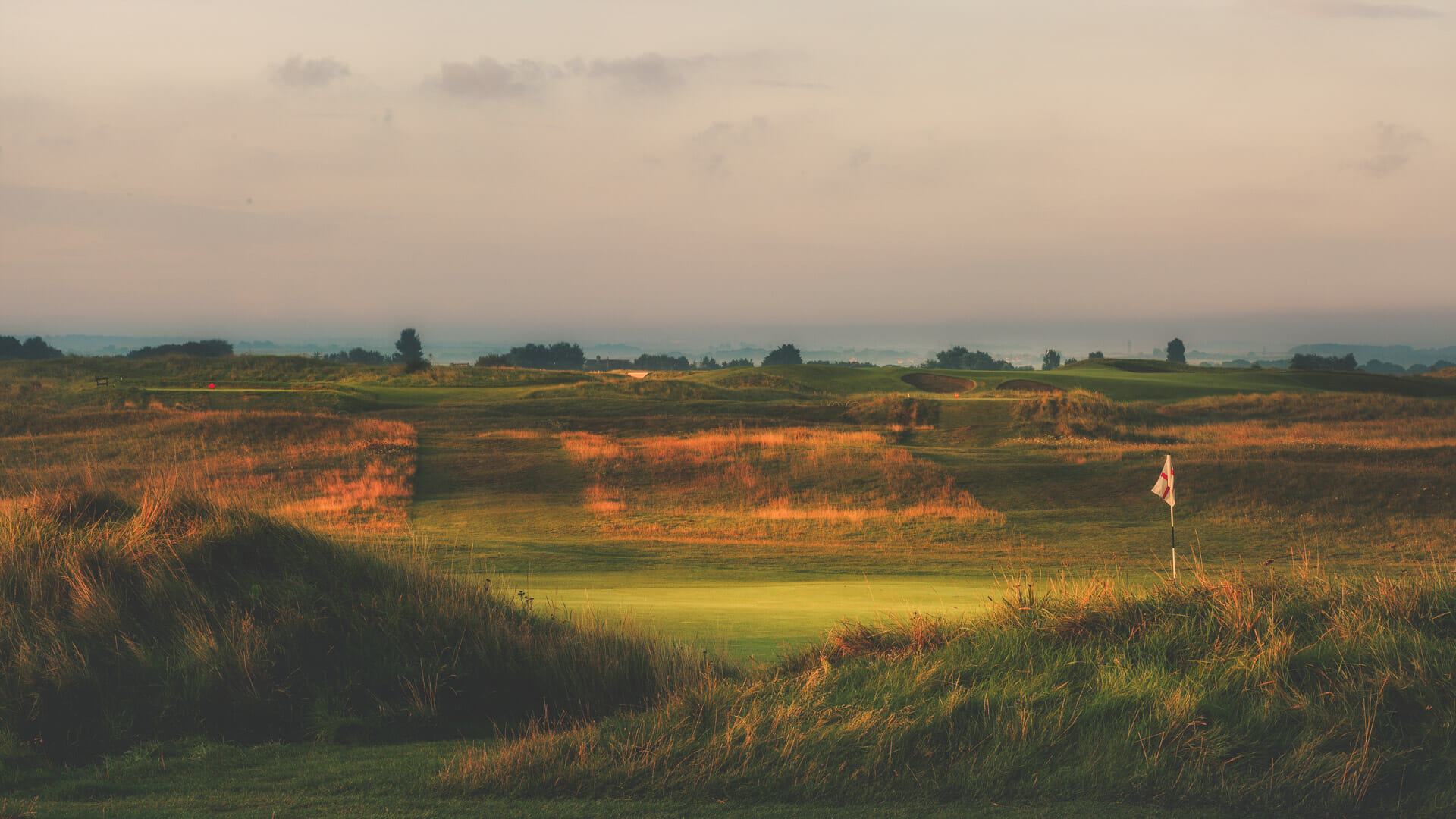 Image of the 11th hole at Royal St. George's Golf Course, Kent, England