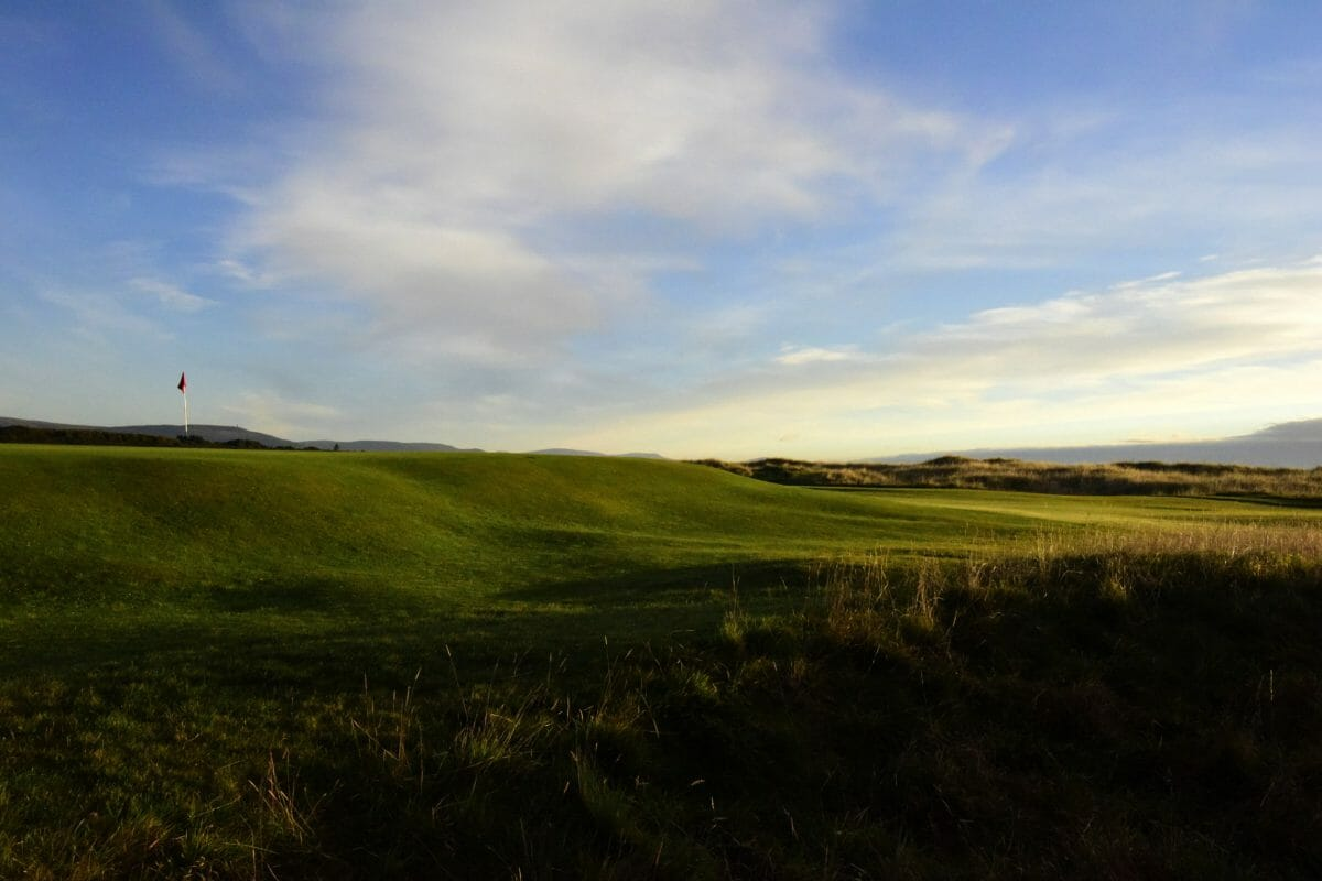 Image overlooking the par-4 14th hole on the Championship course at Royal Dornoch Golf Club, Scotland