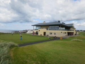 Image displaying the clubhouse at Portsteward Golf Club, Northern Ireland