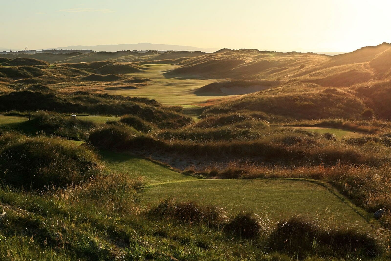 Image depicting the Valley Course at Portrush at sunset