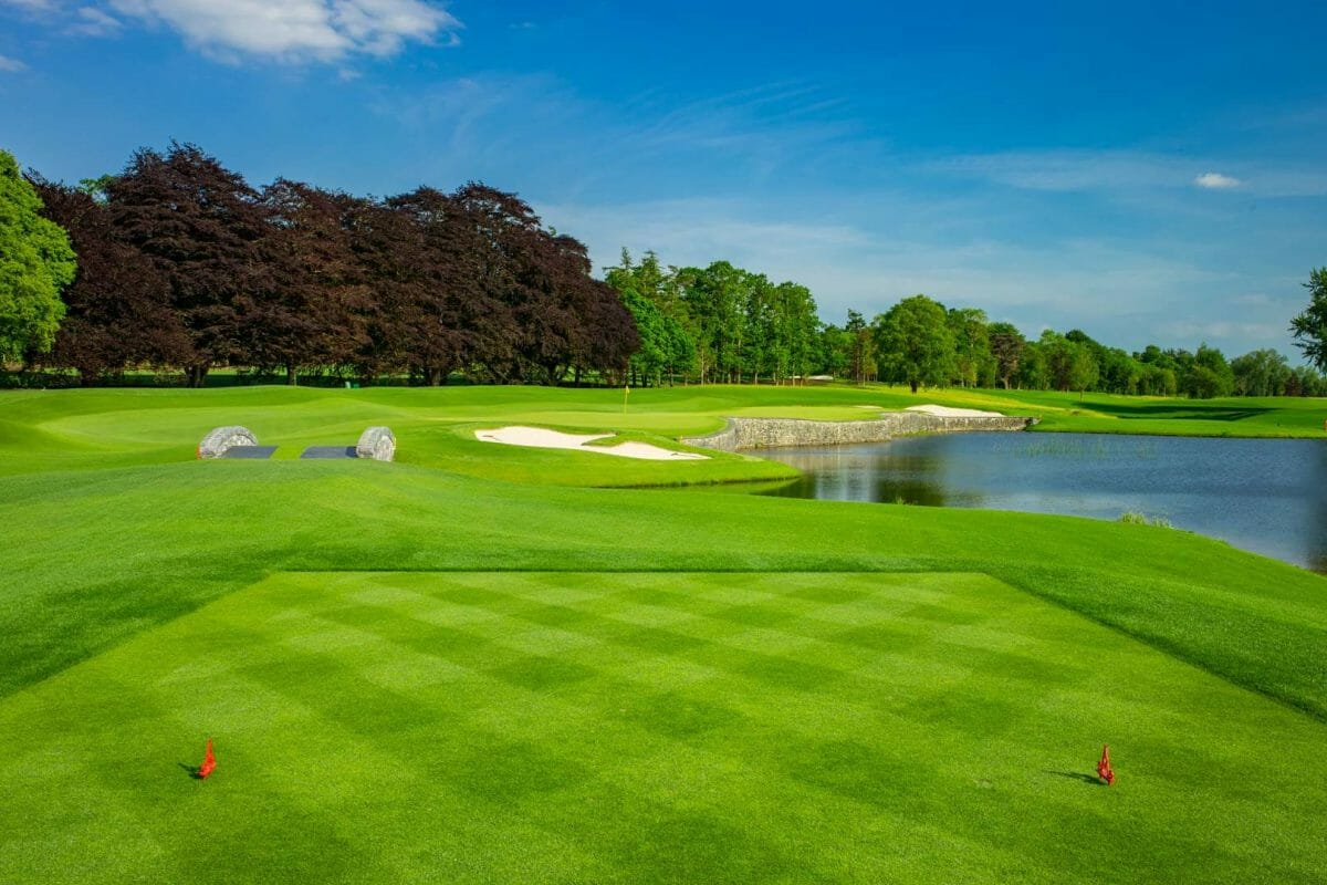 Image viewing the par-3 16th hole at Adare Manor, County Limerick, Ireland, Europe