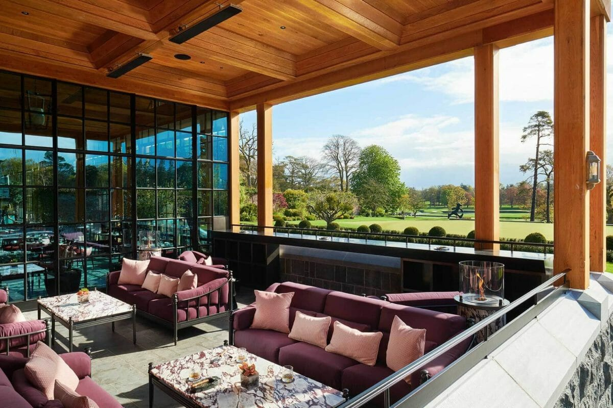 Image of the Carriage House Clubhouse Lounge area at Adare Manor, County Limerick, Ireland, Europe