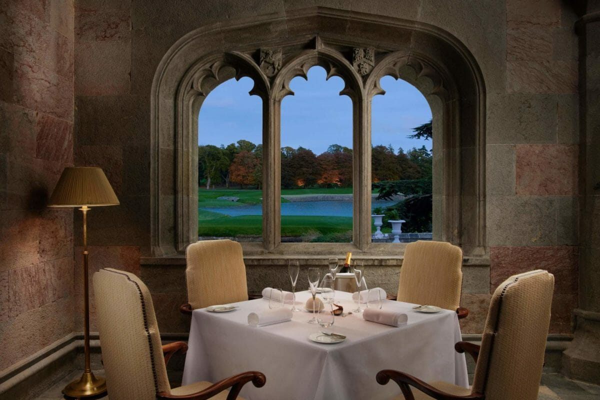 Image displaying The Oak Room dining setting at Adare Manor, County Limerick, Ireland, Europe