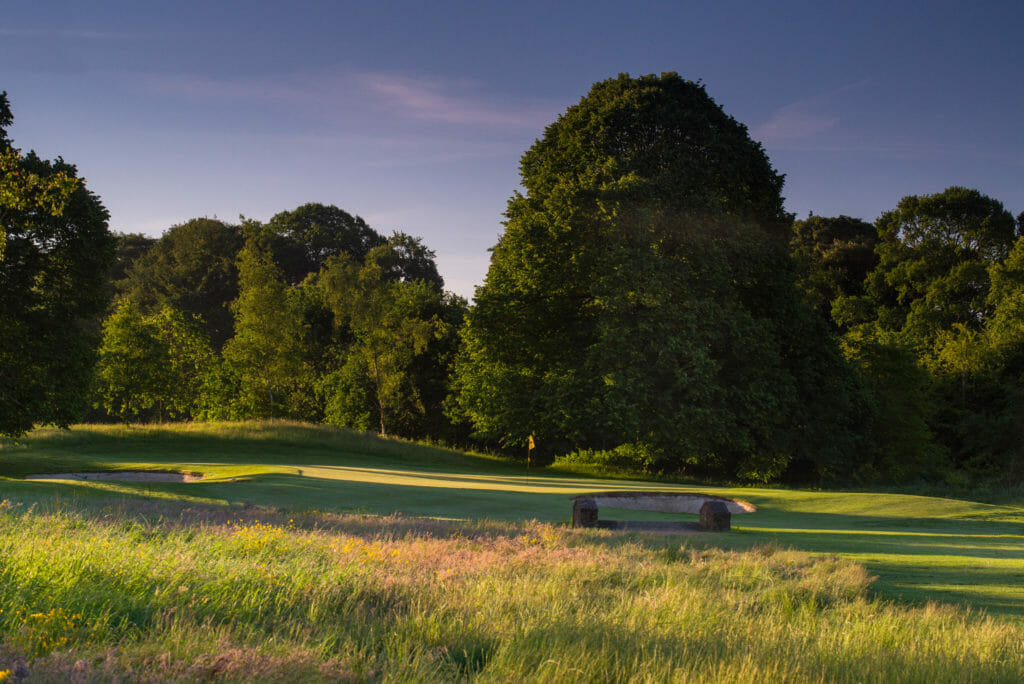 Image of the 12th green on the golf course at Galgorm Resort, County Antrim, Northern Ireland
