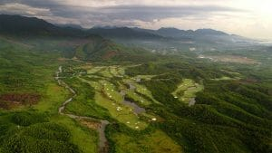 Aerial image of the Ba Na Hills Golf Club, Da Nang, Vietnam
