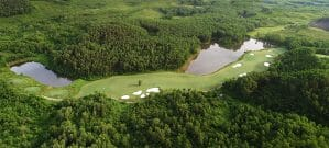 Aerial image of the 11th hole at Ba Na Hills Golf Club, Da Nang, Vietnam