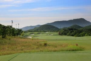 Image displaying the view from the 3rd tee at Ba Na Hills Golf Club, Da Nang, Vietnam