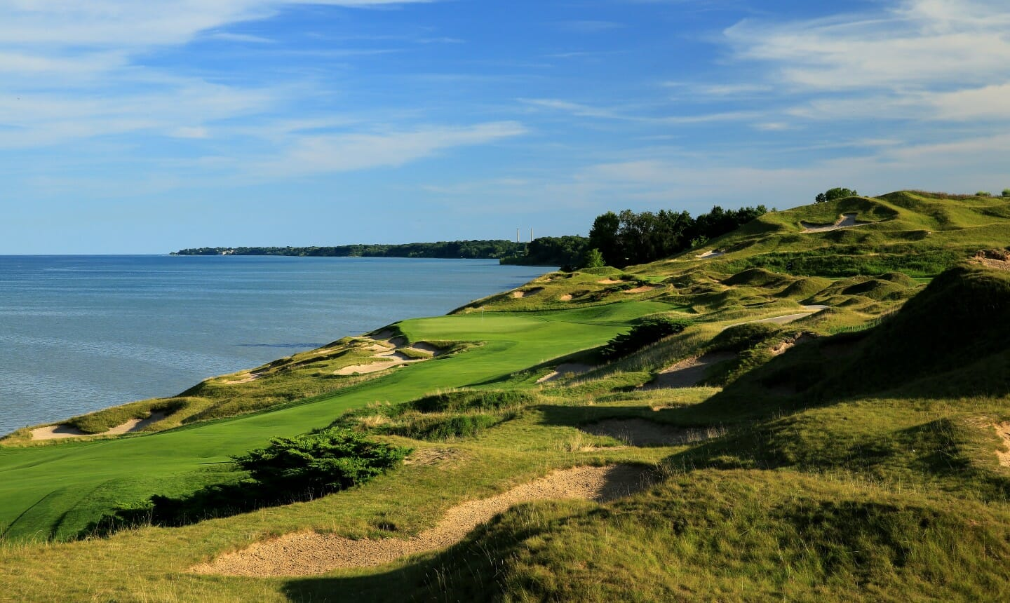 Image of the 4th hole on the Straits golf course,, Destination Kohler, Wisconsin, USA