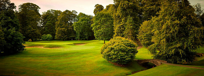 Image of the golf course at Mount Juliet Estate, Ireland.