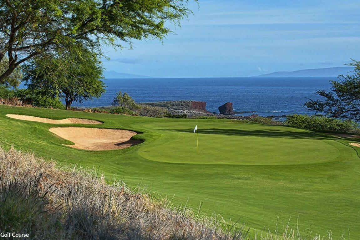 Image of the Manele Bay Golf Course, Hawaii, USA