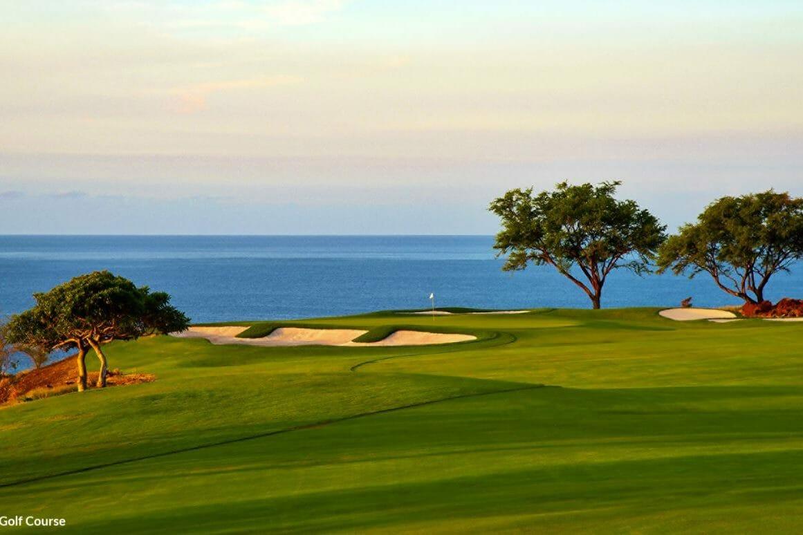 Landscape image of the Manele Bay Golf Course, Lanai, Hawaii, USA
