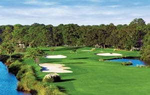 Overlooking the sixteenth Green at Palmetto Dunes Golf Course in Hilton Head