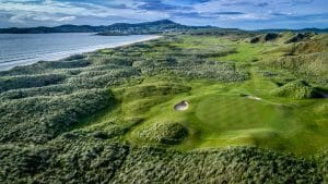 Aerial view of the golf complex at Rosapenna Golf Resort, Ireland