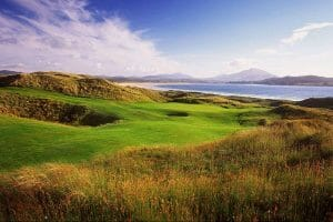 Long reeds and deep pot bunkers make the golf at Rosapenna truly challenging