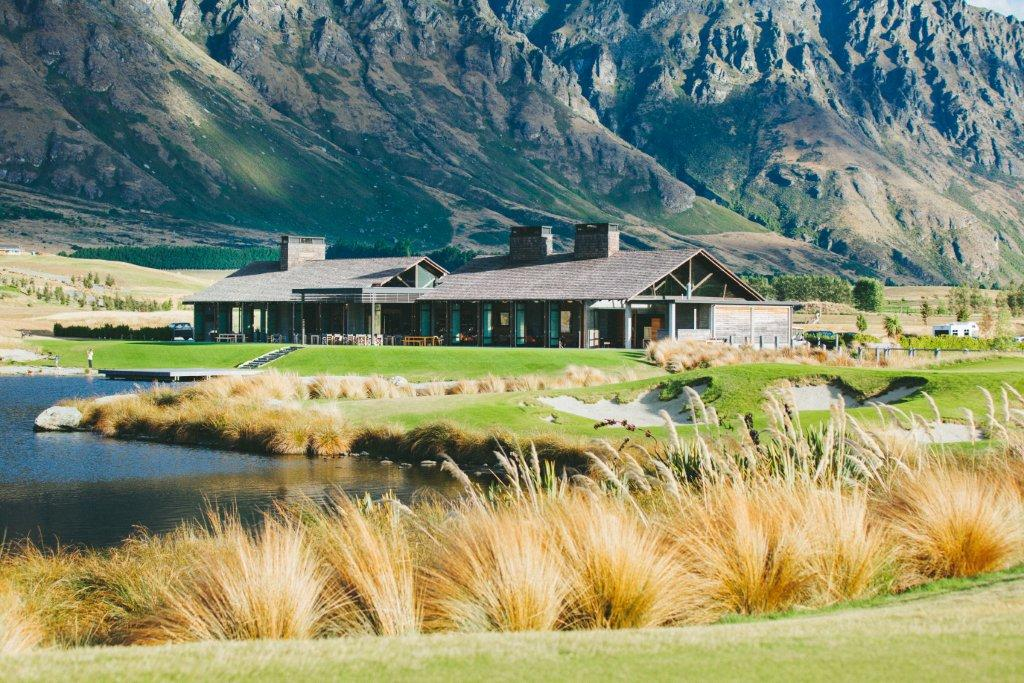 Image displaying the architecturally designed golf clubhouse at Jack's Point, New Zealand