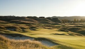 Landscape image of The Kinloch Club undulating fairways and accommodation
