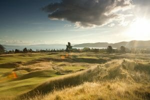 Image of the modern links golf course at The Kinloch Club, Taupo, New Zealand