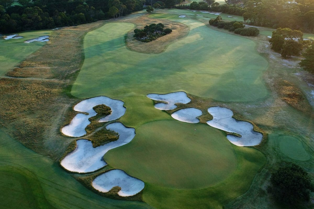 Large sand bunkers characterize Dr Alister MacKenzie's architectural genius