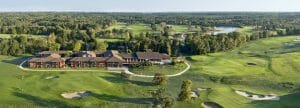 Aerial view of the Golf du Medoc Resort and golf course
