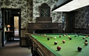 Full-sized snooker table available for guest use at Golf du Medoc Resort