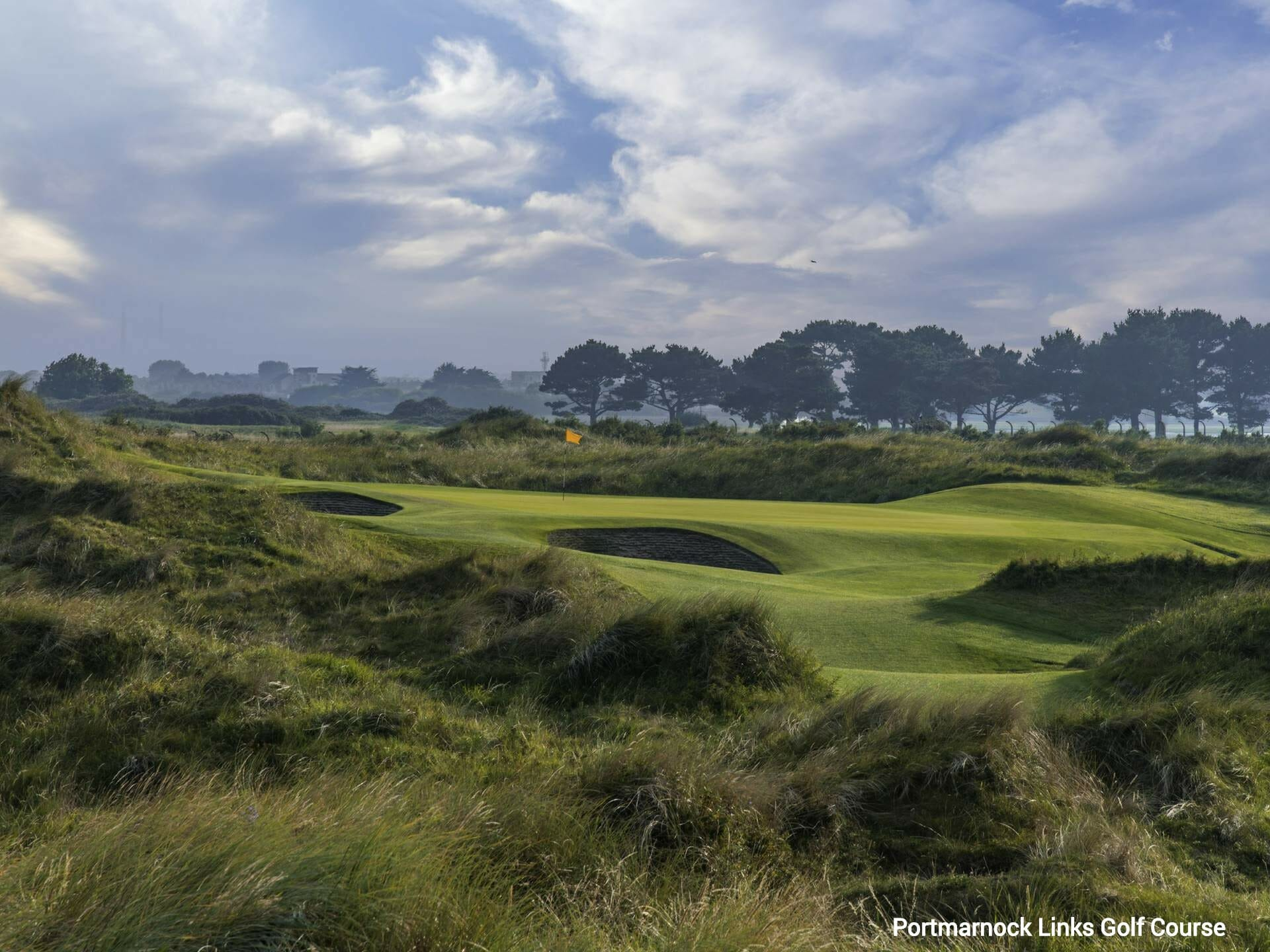 Undulating land comprises Portmarnock Links golf course