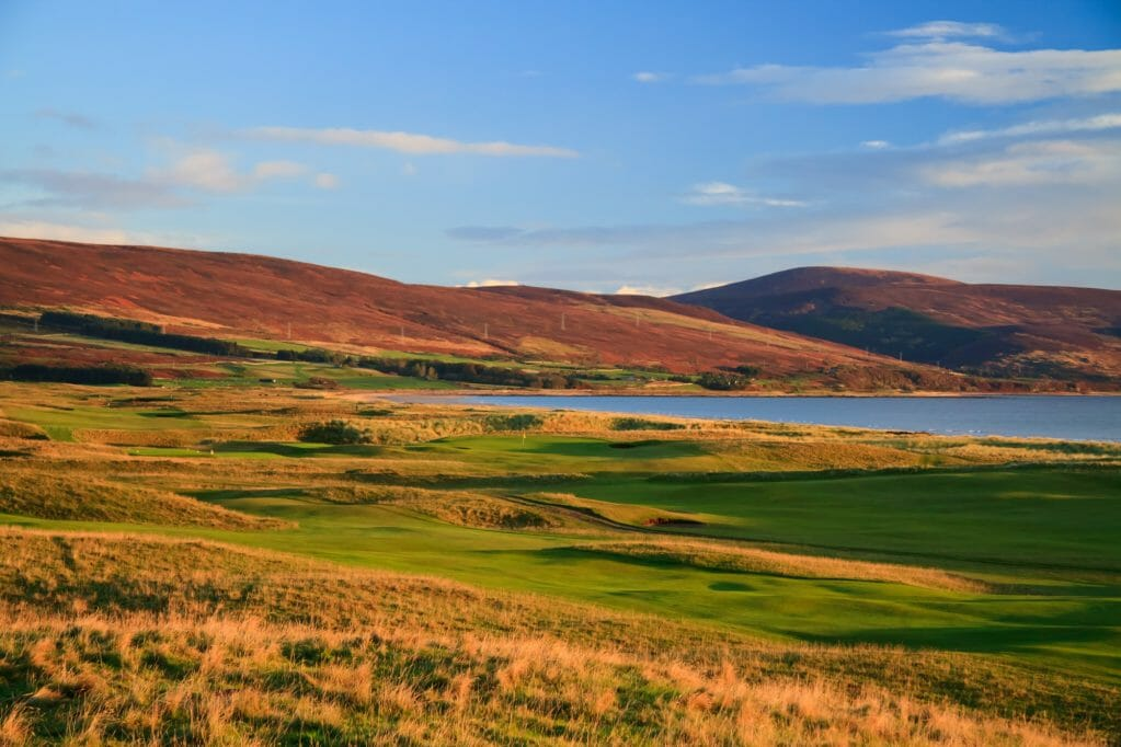The Brora Golf Club lies directly between The North Sea and mountains