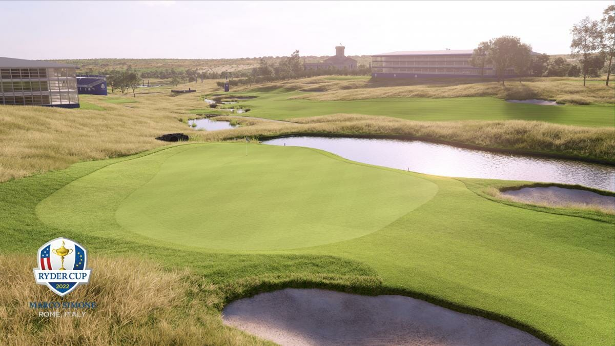 Virtual reality view of the Marco Simone golf complex host of the 2022 Ryder Cup