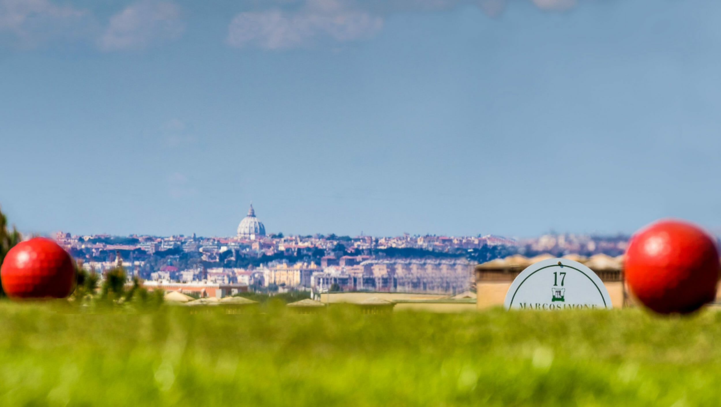 St Peter's dome visible from Marco Simone golf course