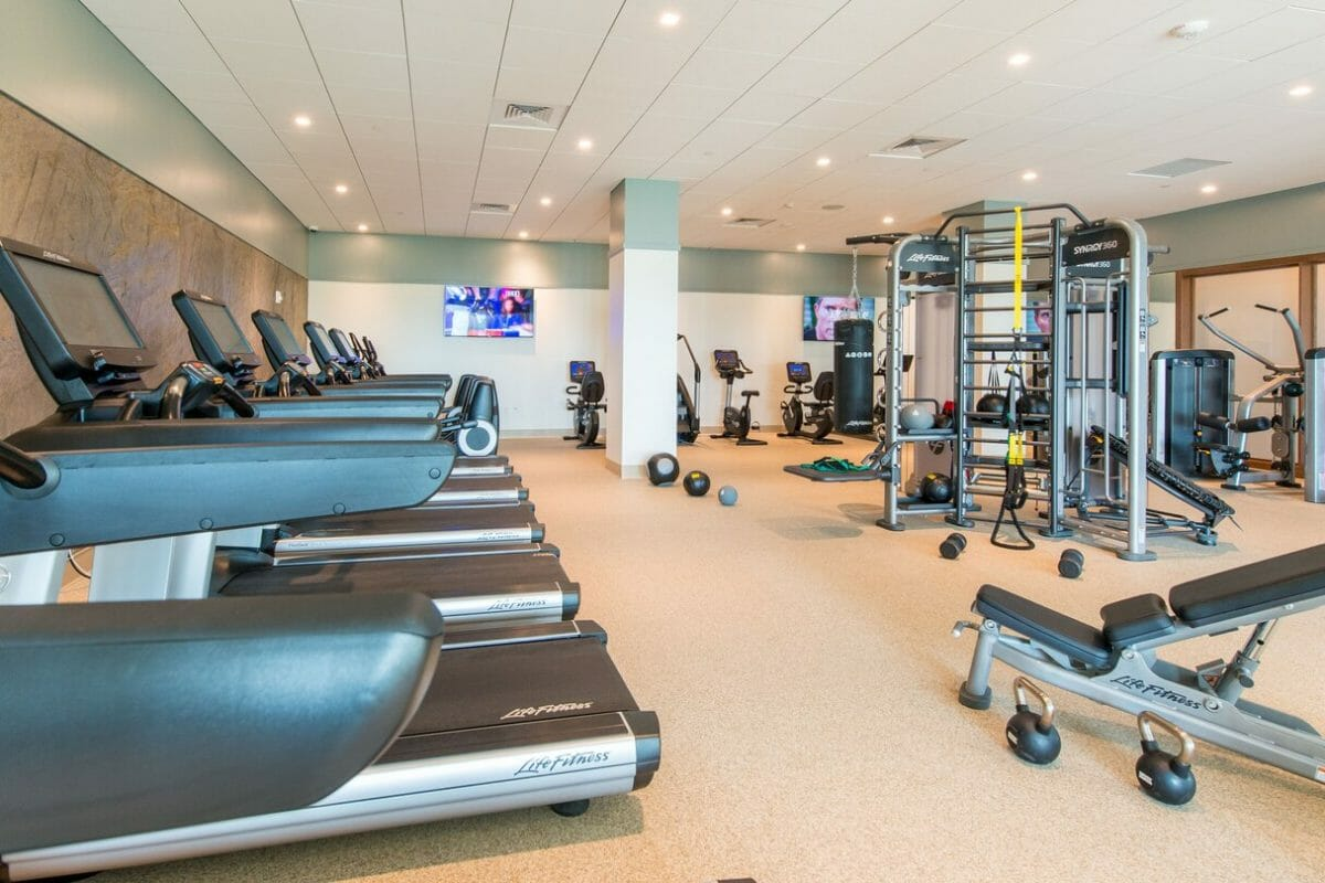 Interior view of the fitness centre at The Westin Hapuna Beach Resort